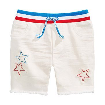 First Impressions Baby Boys' White Denim Shorts