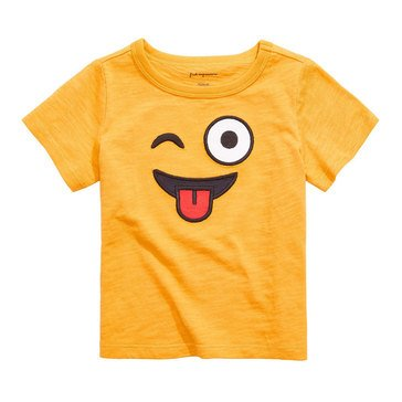First Impressions Baby Boys' Emoji Face Tee