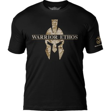 7.62 Mens USMC Warrior Ethos Desert Digi Print Short Sleeve Tee