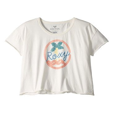 Roxy Big Girl's Palmy Beach Cropped Tee