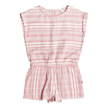 Roxy Big Girls' My Love Striped Woven Romper