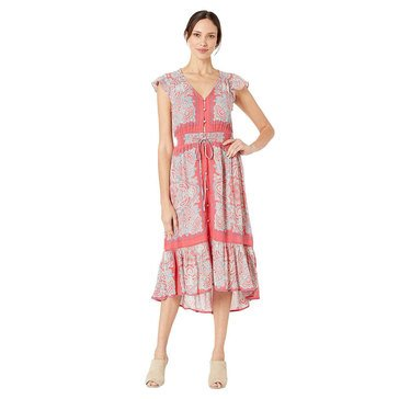 Lucky Brand Women's Border Printed Felice Dress