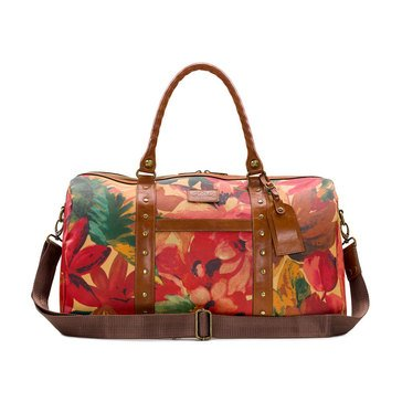 Patricia Nash Coated Canvas Spring Multi Milano Duffel