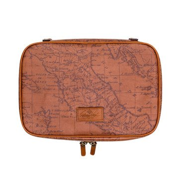 Patricia Nash Coated Canvas Signature Map Ilaria Hanging Travel Case