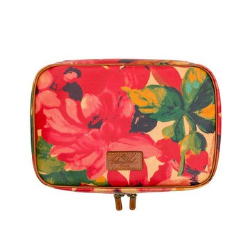 Patricia Nash Coated Canvas Spring Multi Ilaria Hanging Travel Case