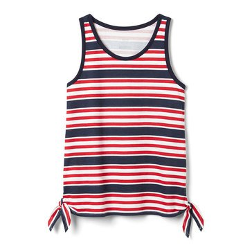 Yarn & Sea Toddler Print Side Knot Tank