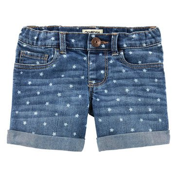 OshKosh Baby Girls' Stretch Star Print Denim Shorts
