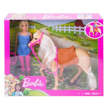 Barbie Horse and Blond Riding Doll