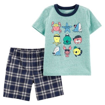 Carter's Baby Boys' 2-Piece Sea Creatures Shorts Set