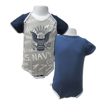 TS Boys Infant Scribble Navy Eagle Contrast Romper