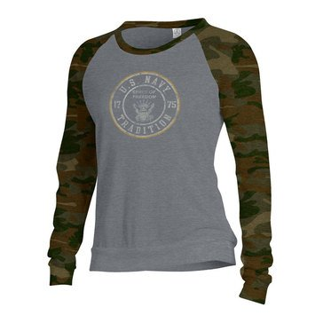 Gear For Sports Women's USN Spirit Of Freedom Camo Slouchy Pull Over