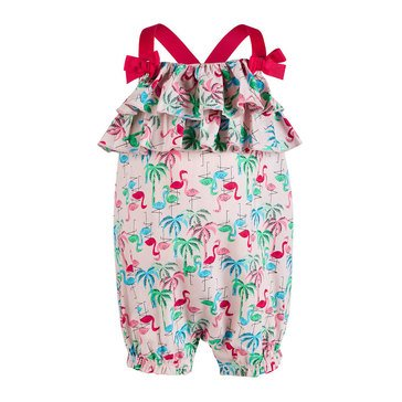 First Impressions Baby Girls' Flamingo Sunsuit