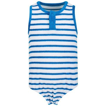 First Impressions Newborn Stripe Terry Sunsuit