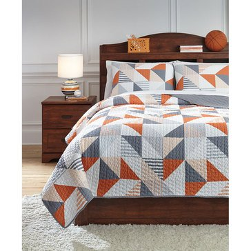 Signature Design By Ashley 3-Piece Layne Coverlet Set