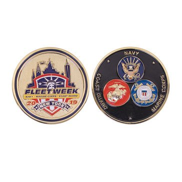 Vanguard Fleet Week NY 2019 With Military Branches Coin