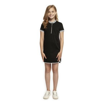 Dex Big Girl's' Knit Dress with Front Zipper Detail