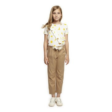 Dex Big Girl's' Woven Trousers with Bow Belt