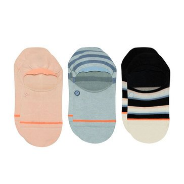Stance Women's 3-Pack Stripe Back To Basic Invisible Socks