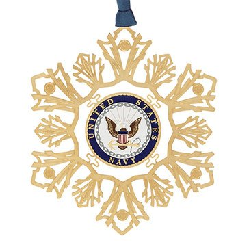 Chemart US Navy Snowflake Ornament