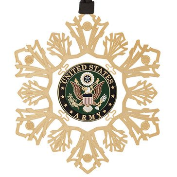 Chemart US Army Snowflake Ornament