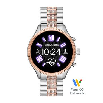 Michael Kors Women's Lexington Smartwatch, Stainless Steel Bracelet, 44mm