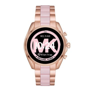 Michael Kors Women's Black / Rose Gold Bracelet Watch, 44mm