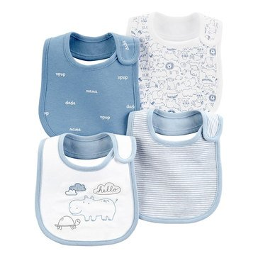 Carter's Baby Boys' 4-Pack Animal Teething Bib