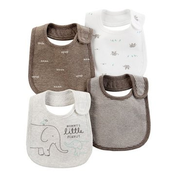 Carter's Baby 4-Pack Elephant Teething Bibs