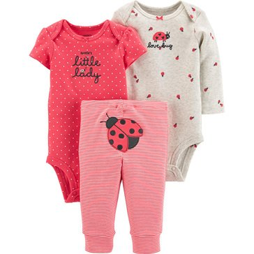 Carter's Baby Girls' 3-Piece Ladybug Little Character Set