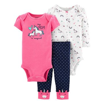Carter's Baby Girls' 3-Piece Unicorn Little Character Set