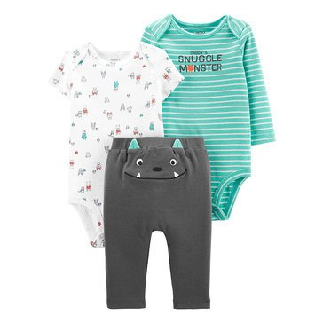 Carter's Baby Boys' 3-Piece Monster Little Character Set
