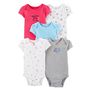 Carter's Baby Girls' 5-Pack Princess Original Bodysuits