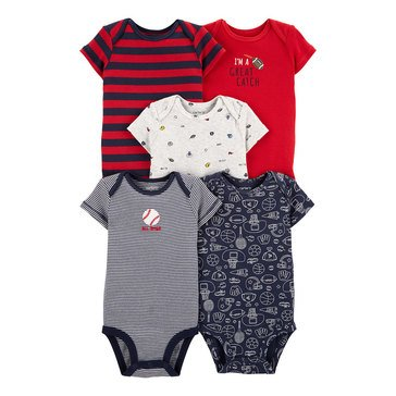 Carter's Baby Boys' 5-Pack Sports Original Bodysuits