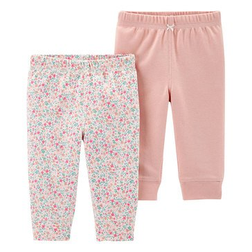 Carter's Baby Girls' 2-Pack Floral Cotton Pants