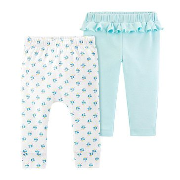 Carter's Baby Girls' 2-Pack Geo Cotton Pants