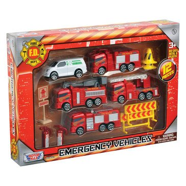 12pc 3 Emergency Vehicles Set