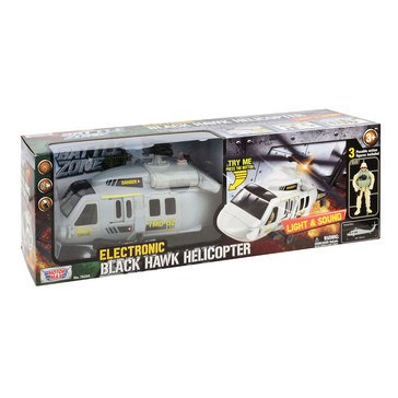 Motor Max Zone Electronic Black Hawk Light n' Sound Helicopter