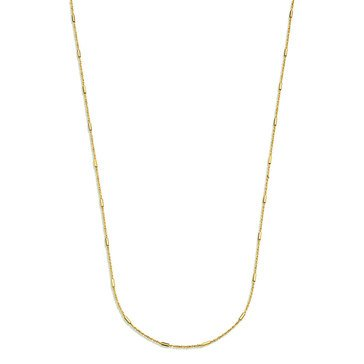 Twisted Cable Chain With Bar Station, 14K