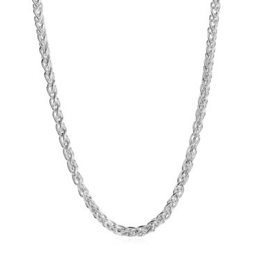 Large Wheat Link Necklace, Sterling Silver