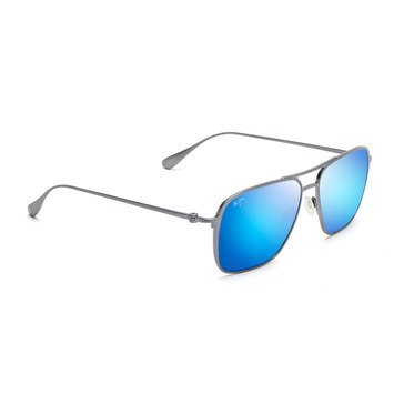 Maui Jim Unisex Beaches Dove Grey Aviator Sunglasses