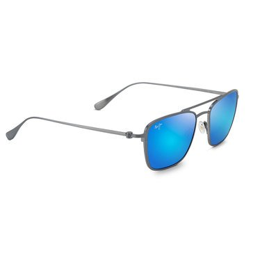 Maui Jim Unisex Ebb & Flow Dove Grey Aviator Sunglasses
