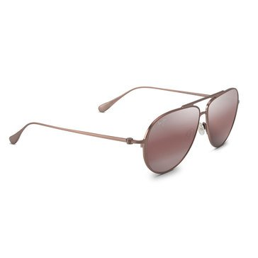 Maui Jim Unisex Shallows Satin Brown Red Aviator Sunglasses