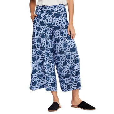 Free People Women's Lady Lady Printed Wide Leg Crop Pants