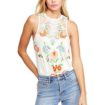 Free People Women's Flower Power Embroidered Tank