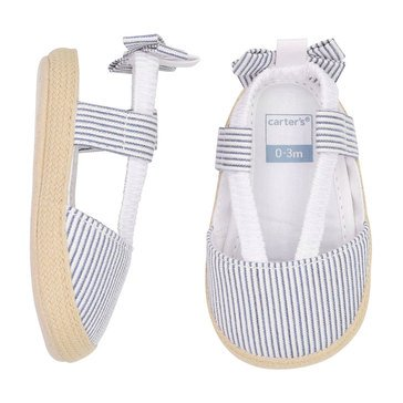 Carter's Baby Girls' Stripe Bow Espadrille