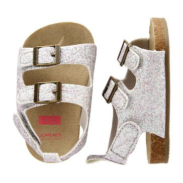 Carter's Baby Girls' Glitter Cork Sole Sandal