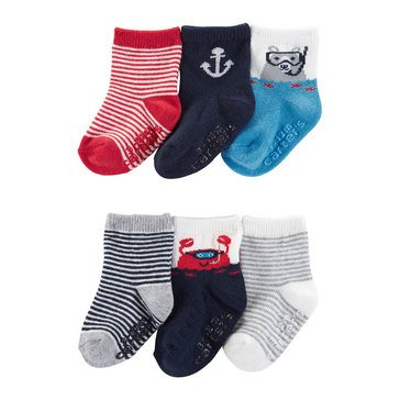 Carter's Baby Boys' 6-Pack Nautical Socks