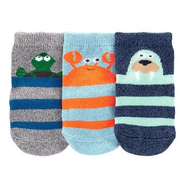 Carter's Baby Boys' 3-Pack Sea Character Crew Socks
