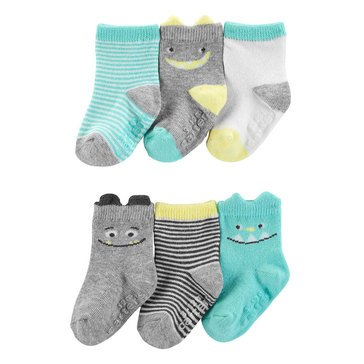 Carter's Baby Boys' 6-Pack Monster Socks