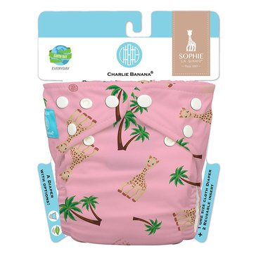 Charlie Banana Sophie La Girafe Diaper 2 Inserts One Size Hybrid All In One